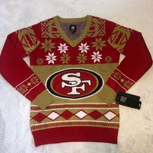 NWT NFL 49ers Holiday Sweater